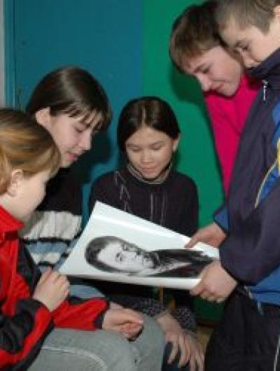 В музее Бунинской средней школы